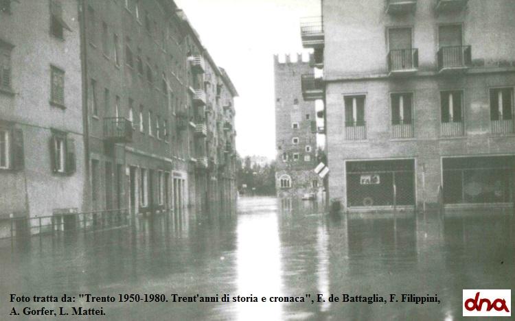 L'alluvione nella città di Trento: quelle notti di novembre 1966