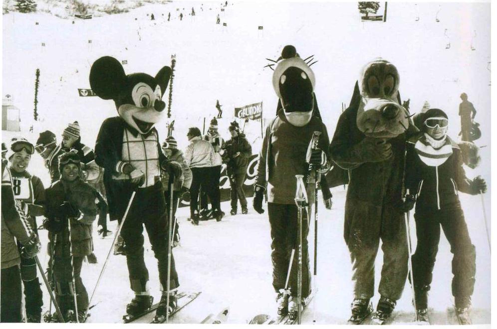 Topolino sugli sci