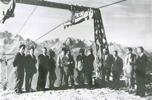 Inaugurazione del nuovo impianto Andalo - Paganella. Tratto da Andalo, nascita di una località turistica, Cosner